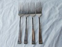 4 Wallace GEORGETOWN Salad Forks 18/10 Stainless Flatware Set
