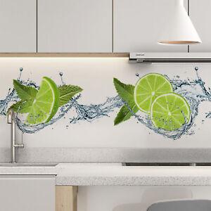 Küchenrückwand selbstklebend limette Fliesenspiegel Folie - ALLE UNTERGRÜNDE