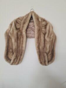 Original Echtpelz Nerz Stola Mantel Jacke Bolero mit 2 Taschen
