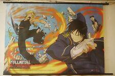 "Fullmetal Alchemist Flame v. Metal wall scroll 29"" X 41"" Fabric Wall Hang"
