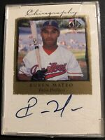 Ruben Mateo 1998 SP Top Prospects Auto Card #RM