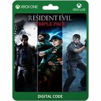 Pack triple de Resident Evil (Microsoft Xbox One) - (Digital Code)