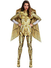 Adults Wonder Woman 1984 Gold Fancy Dress Costume Superhero Diana Prince Womens