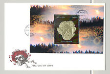Tanzania 1996 Jerry Garcia, Sunflowers 1v S/S on FDC