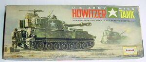 1965 Aurora U.S. Army M109 HOWITZER TANK Model Kit #314-98 GC
