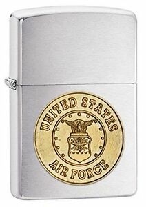 Zippo Windproof U.S. Air Force Lighter With Air Force Emblem, 280AFC, New In Box