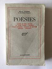 POESIES ALBUM VERS ANCIEN JEUNE PARQUE CHARMES CANTATE 1942 PAUL VALERY