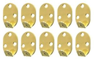 10x Heavy Duty Brass Large 3 Hole Picture Frame Mirror Tool Wall Hooks Hanger
