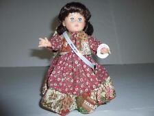 "Ginny Doll Vogue MIB 8"" Miss 1970 headband maxi dress platform shoes black hair"