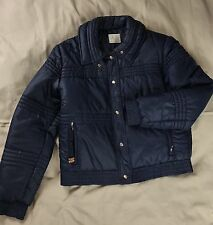 Women's Vintage ROFFE SKIWEAR Jacket Coat Sz Large Navy Puffer M L