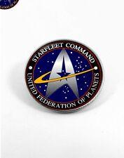 STAR TREK STARFLEET COMMAND Nickel plated badge