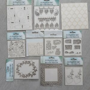 Lots of Laser Cut Chipboard Elements Cardmaking, Scrapbooking - SALE