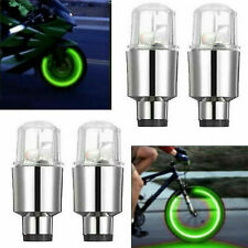 8 Pcs Colored LED Wheel Tire Light Valve Caps Neon Lamp For Motorcycle Bike Car
