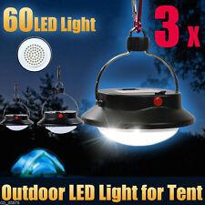 3pcs Ultra Lumineux 60 DEL extérieur camping tente Lumière Lanterne Randonnée Pêche Lampe