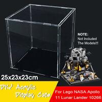 DIY Acrylic Display Case For Lego NASA Apollo 11 Lunar Lander 10266 Bricks  ✌