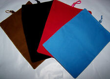 """Velour Case Pouch Carrying Bag Sleeve for Apple iPad Mini Kindle Fire 8"""" tablet"""