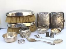 More details for a mixed lot of victorian and later silver items