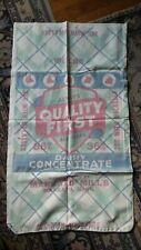 Antique Vintage Advertising Feed Sack QUALITY FIRST, Mankato Mills, Minnesota