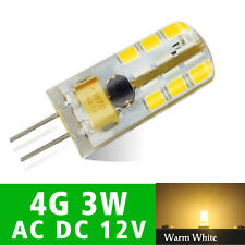 3W 12V Led Bulb Light Warm White SMD 24Leds Lamp Replace Halogen Dimmable 10X G4