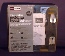 Sears Craftsman Radial and Table Saw Molding Set #  93218  W/ 5 Sets of Blades