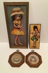 Vintage Big Eyes Plaques and Prints