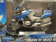 BMW R 1200 RT Polizei blau/orange Motorrad 1:18 *NEU*