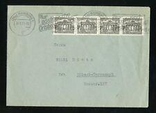 BERLIN Nr.42 4er-Streifen BRANDENBURG BRIEF HAMBURG 30.8.1950 (950063)