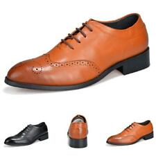 Mens Business Shoes Pointy Toe Brogue Wing Tip Carved Oxfords Wedding Lace up L