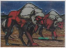 """1995 INTREPID """"PITT""""ASHCAN CHARACTER CARD: CREED BATTLE HOUNDS #C3 EMBOSSED FOIL"""