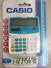 NEW Casio SL100VC-BU-s Electronic Calculator 8-Digit LCD DUAL LEAF % TAX BLUE