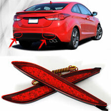 2x LED Rear Bumper Reflector Brake Light For Hyundai Elantra 2011-2014 Avante MD