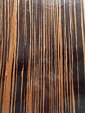 "Macassar Ebony composite wood veneer 48"" x 96"" on paper backer 1/40th"" (EFW)"