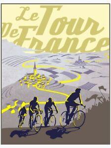 TOUR DE FRANCE-Lanscape-Animal-Fantasy-Music-Poster Print
