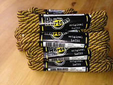 DR MARTENS  8mm yellow brown gold striped thick cord LACES 60 cm SHOE 3 eye