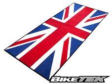NEW BIKETEK UNION JACK GREAT BRITAIN UK FLAG GARAGE MAT PIT MAT WORKSHOP MAT