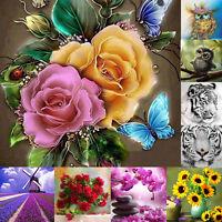 5D DIY Diamond Painting Flower Animal Embroidery Cross Stitch Kits Home Decor --