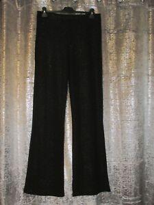 Bnwt NewLook Black Glitter Slimfit Flared  leggings Size 16