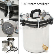 18L Professional Medical Steam Autoclave Sterilizer Dental Lab Equipment 110V US