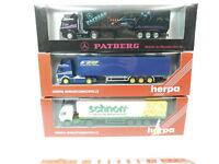 BH55-0,5# 3x Herpa H0/1:87 LKW MB: 141949+142502+Patberg, NEUW+OVP