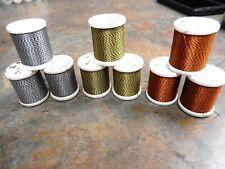 Vintage Gudebrod Black/Orange, Black/Silver, Black/Gold Jasper Rod Wrap Threads