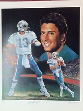 Dan Marino Artists Proof Autographed Low # Lithograph with Photo of Signing