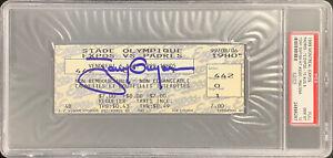 Tony Gwynn Signed Full Ticket 8/6/99 3000 Hit Autograph PSA/DNA Tix Gem MT 10