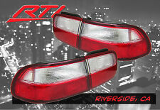 92-95 Honda Civic EJ EH Coupe Sedan Rear Tail Lights Red/Clear EX LX DX  4 pcs