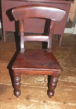 """Maine Estate Antique Very Small Child'S Chair Empire Victorian Period 17"""" Tall"""