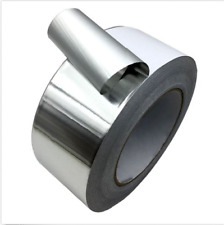 4Rolls Aluminium Roll Silver Foil Adhesive Tape Insulation Heating Duct 80MM*25M