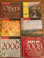 6 classic  fm various classical music cds brand new sealed
