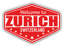 """Zurich Switzerland Grunge Travel Stamp Car Bumper Sticker Decal 5"""" x 4"""""""