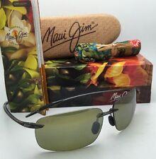 Polarized MAUI JIM Sunglasses BREAKWALL HT 422-11 Grey Smoke Frames Green Lenses