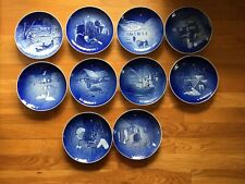Bing and Grondahl Christmas Plates 1970 - 1979 Jule After vintage 7 1/2 Inch lot