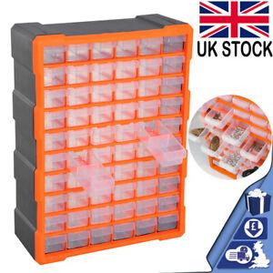60 Multi Drawer Parts Storage Cabinet Unit Organiser Home Garage Tool Box UK